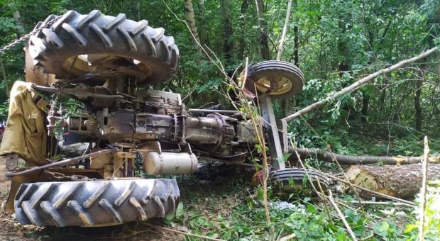 Traktor przygniótł kierowcę - zginął na miejscu