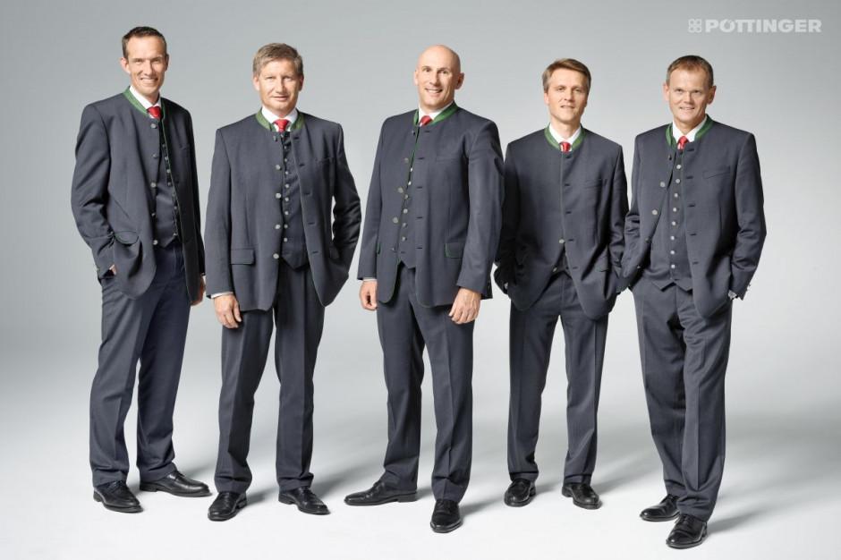 Na zdjęciu od lewej: Jörg Lechner, dr. Markus Baldinger, Gregor Dietachmayr, Wolfgang Moser, Herbert Wagner
