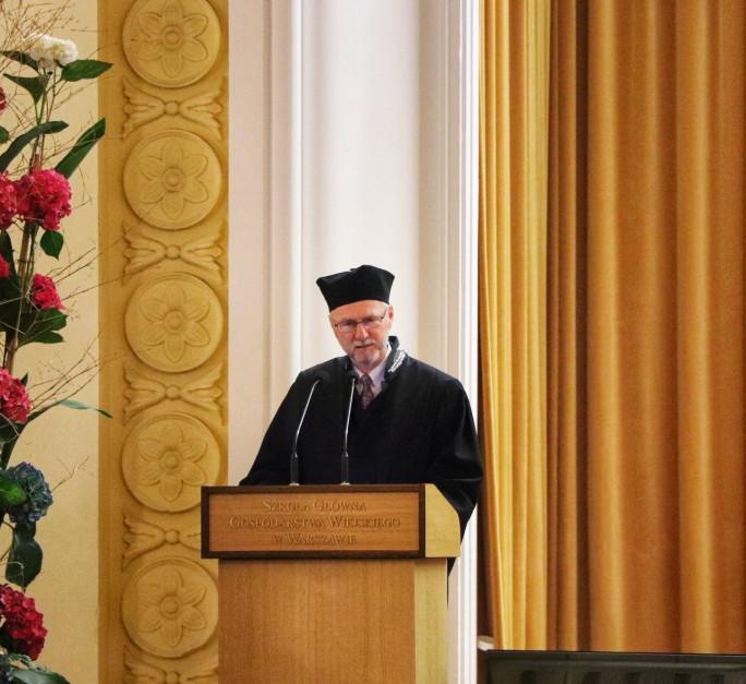 Prof. Jim Mazurkiewicz wygłosił bardzo uniwersalną i inspirującą przemowę fot. Tomasz Kuchta