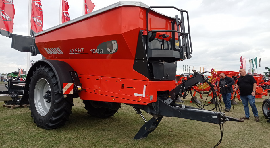 Czy Rauch Axent 100.1 może w jeden dzień rozsiać nawóz na 1000 ha?
