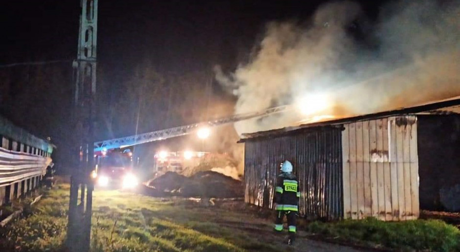 Były pracownik podpalił stodołę