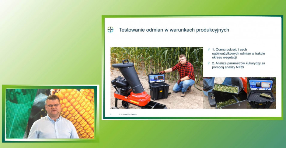Klienci firmy Bayer mogą liczyć na tzw. audyt kiszonkowy, polegający na profesjonalnie przebadanie najpierw biomasy a później jakości wyprodukowanej kiszonki Fot. prtscreen