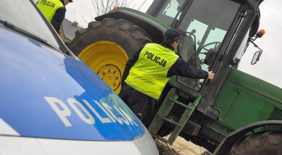 Pijany traktorzysta chciał uciec przed kontrolą